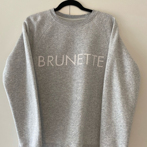 Heather Grey Brunette the Label Sweater